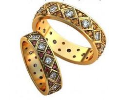 Авторские парные обручальные кольца арт: AU521