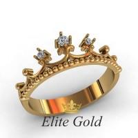 Женское кольцо уникальное артикул: 1944 Корона