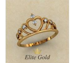 Женское кольцо уникальное артикул: 1766 Кольцо Корона