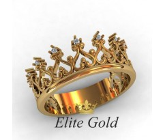 Кольцо в форме короны артикул: 0699