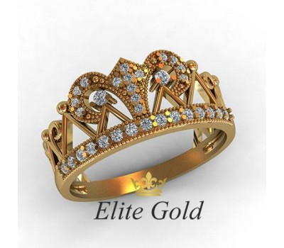Кольцо корона, ручная работа артикул: КЕ-863
