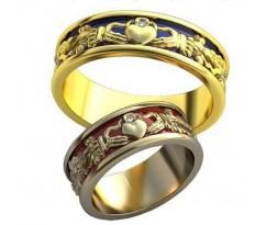 AU476 Кладдахские парные обручальные кольца