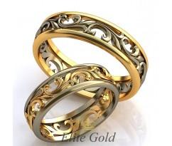 Авторские кольца на свадьбу  AU522