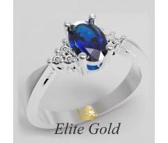 Кольцо с сапфиром и бриллиантами Aura