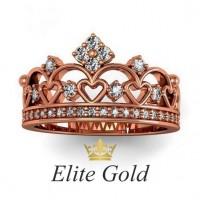 Эксклюзивное кольцо Queen of hearts ring - Кольцо Корона