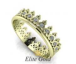 Женское кольцо уникальное Tiara ring - Кольцо Корона