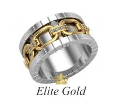 Эксклюзивное мужское кольцо art: EX043 Tandem