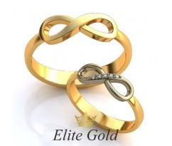Авторские кольца на свадьбу  art: EX107 Бесконечность любви
