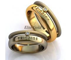 Авторские кольца на свадьбу  art: EX110 Memory Lane