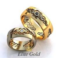Авторские кольца на свадьбу  art: EX124 Eclipse