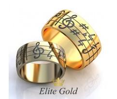 Авторские кольца на свадьбу  art: EX128 Love Song
