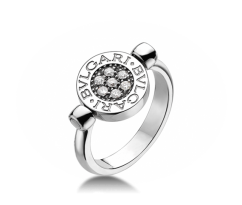 BVLGARI BVL Two Sided Onyx Ring