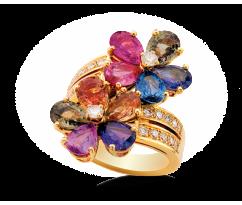 BVLGARI Sapphire Flower Ring 12Y