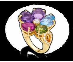BVLGARI Sapphire Flower Ring 105R