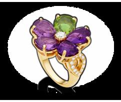 BVLGARI Sapphire Flower Ring 105V