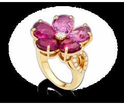 BVLGARI Sapphire Flower Ring 105P