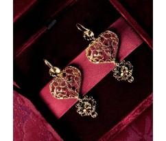 Dolce Gabbana Gold Heart Earrings
