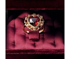 Dolce Gabbana Baroque Collection Heart Shaped Ring