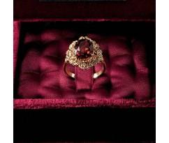Dolce Gabbana Baroque Collection Garnet Ring