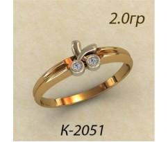 Кольцо с бриллиантами 2051