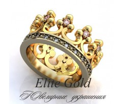 Женское кольцо уникальное Adelaide ring - Кольцо Корона