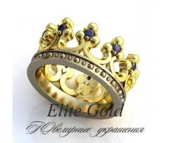 Женское кольцо уникальное Adam ring - Кольцо Корона