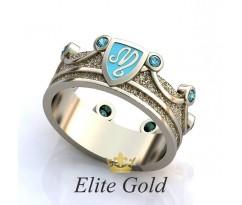 Женское кольцо уникальное Arielle ring - Кольцо Корона
