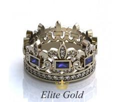 Женское кольцо уникальное Alessandra ring - Кольцо Корона