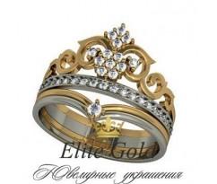 Женское кольцо уникальное Sophia ring - Кольцо Корона
