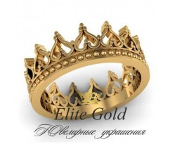Женское кольцо уникальное Queen of Spades ring - Кольцо Корона