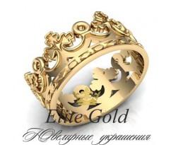 Женское кольцо уникальное Мужское Кольцо Корона