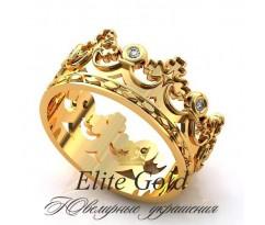 Женское кольцо уникальное Aurelia ring - Кольцо Корона