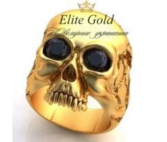 Мужское эксклюзивное кольцо art: EX010 Skull