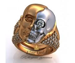 Мужское эксклюзивное кольцо art: EX011 Skull