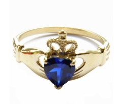 Кладдахское кольцо blue heart celtic