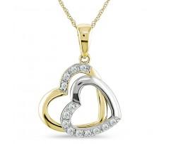 Эксклюзивная подвеска Double Heart necklace