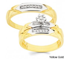 Эксклюзивные кольца His and her wedding set yellow gold