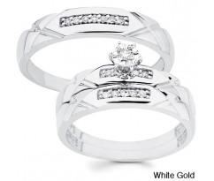 Эксклюзивные кольца His and her wedding set white gold