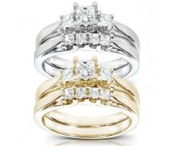 Эксклюзивные кольца Anastasia bridal set (Набор колец невесты)