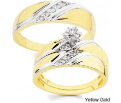 Эксклюзивные кольца Classic wedding set yellow gold
