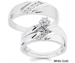 Эксклюзивные кольца Classic wedding set white gold