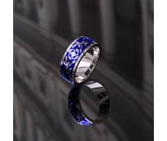 AS2 Кольцо с эмалью и бриллиантом