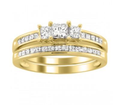 Эксклюзивные кольца Claire bridal set (Набор колец невесты)
