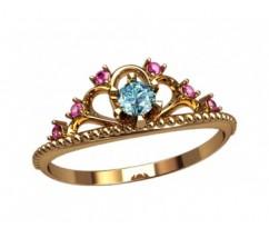Женское кольцо уникальное артикул: 2867 Корона