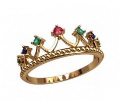 Женское кольцо уникальное артикул: 2870 Корона