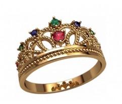 Женское кольцо уникальное артикул: 2871 Корона