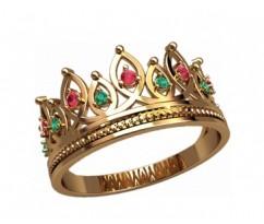 Женское кольцо уникальное артикул: 2872 Корона