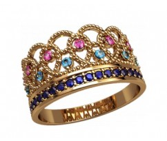 Женское кольцо уникальное Duchess ring - Кольцо Корона