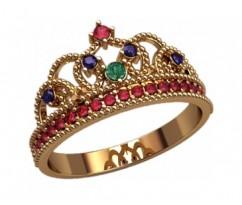 Женское кольцо уникальное артикул: 2874 Корона