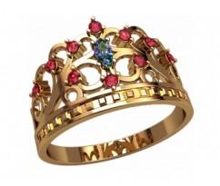 Женское кольцо уникальное артикул: 2875 Корона